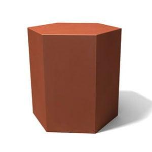 Tavolino esagonale IcetabTerracotta