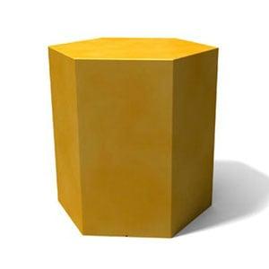 Tavolino esagonale Icetab Ocra