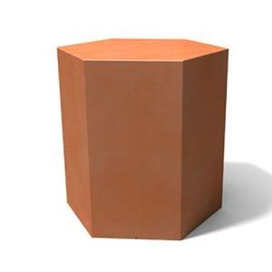 Tavolino esagonale Icetab arancio