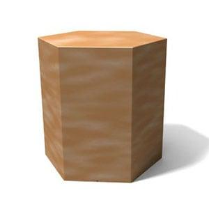 Tavolino esagonale IcetabTegola