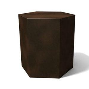 Tavolino esagonale Icetab Bronzo