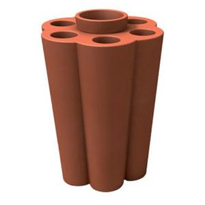 Portaombrelli Lulet drop in polietilene 49,5x38,55xh63 cm Terracotta