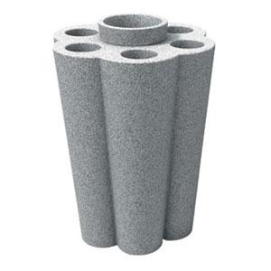 Portaombrelli Lulet drop in polietilene 49,5x38,55xh63 cm Granito
