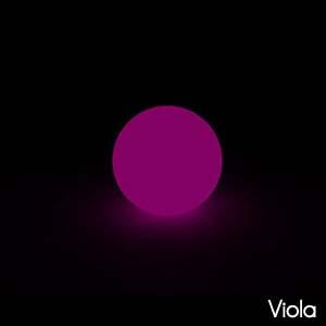 Lampada Sfera MOON per interno esterno 30cm colore Viola lampada acquistabile separatamente