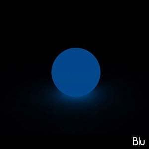 Lampada Sfera MOON per interno esterno 30 cm colore Blu lampada acquistabile separatamente