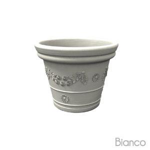 Vaso festonatoTONDO 40cm Bianco