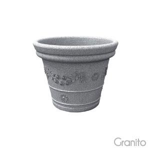 Vaso festonatoTONDO 65cm Granito