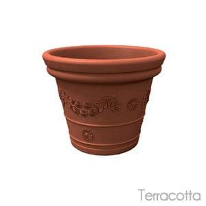 Vaso festonatoTONDO 65cm Terracotta