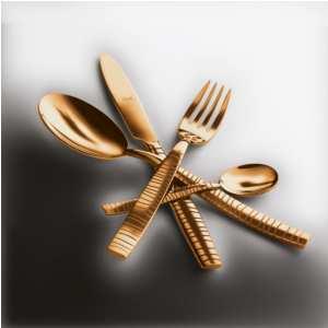 Servizio 49 pezzi tigre Tigre Oro in Acciaio Inossidabile, colore Oro, Lavorazione della supperficie con impiantazione di Titanio PVD