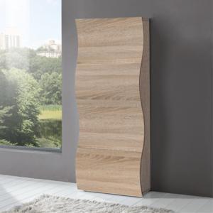 Scarpiera 4 ante 71x28xh162 cm in legno Rovere Segato ONDA 24 paia in Kit di Montaggio