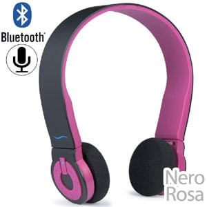 Cuffie per Bluetooth Cuffie Bluetooth con Tasti di Comando Integrati HI FUN colore rosa
