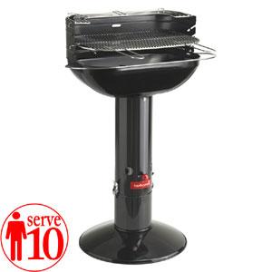 Barbecue a carbone ovale Arena Black 56x34xh96 cm adatto per 10 persone