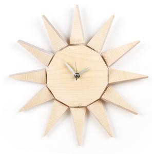 Orologio da parete SUN in legno Ø 35x4 cm colore Acero naturale