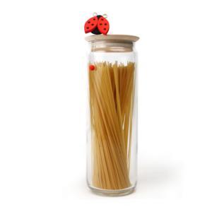 Barattolo Rotondo XXL Spaghetti Ø11xh35cm - 2000 cc In Materiale vetro Coccinella