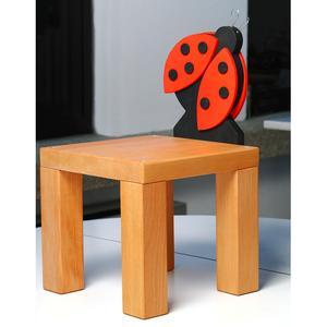 Sedia in Legno Per bambini COCCINELLA In legno di Faggio