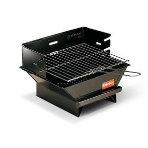 Barbecue a Carbone minigrill 33x30xh22 cm pratico e maneggevole realizzato in lamiera verniciata nero