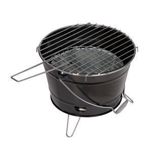 Barbecue a Carbone SMILE Ø27x22h cm pratico e maneggevole realizzato in lamiera verniciata colore nero
