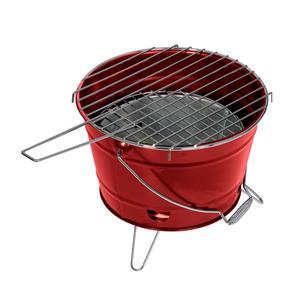 Barbecue a Carbone SMILE Ø27x22h cm pratico e maneggevole realizzato in lamiera verniciata colore rosso