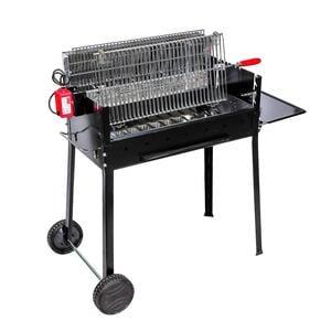 Barbecue a Carbone 118x51x100h cm con fuoco verticale senza grassi