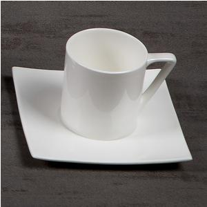 Tazzine da The con piattino in porcellana Bianca 6 pezzi ELIZABETH bone china Bianco