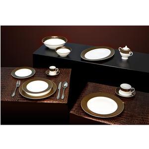 Servizio piatti in porcellana ORONEGRO 76 pezzi realizzato in decorazione sottosmalto