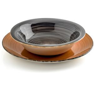 Servizio piatti in GRES GILDA 19 pezzi realizzato decori soft