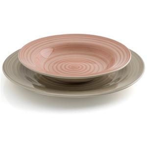 Servizio piatti in GRES KLARA 19 pezzi realizzato decori soft