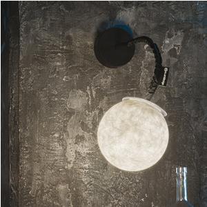 Applique base Nera Ø 18 con stelo Flessibile colore nero