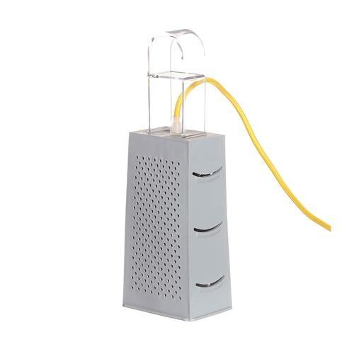 Lampada da Tavolo, Applique Cacio & Pepe colore griggio dimensioni 10 x 7 x h18 cm, raccomandato il LED da 6W, realizzata in laprene, policarbonato con cavi in diversi colori