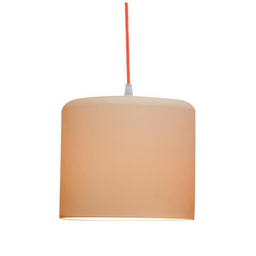 Lampada da Soffitto, Applique Candle 2 colore neutro dimensioni Altezza 19 cm Diametro 21,5 cm, raccomandato il LED da 6W, realizzata in laprene con cavi in diversi colori