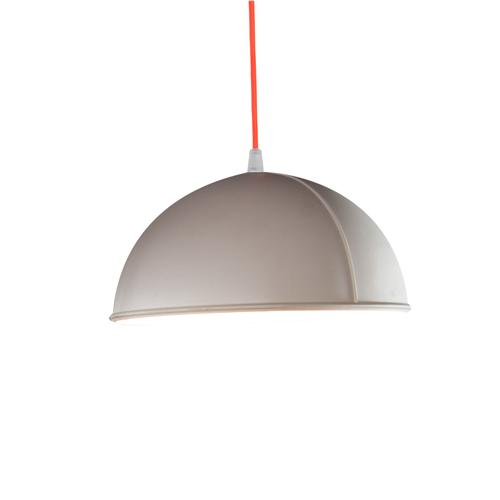 Lampada da Soffitto, Applique Pop 1 colore bianco dimensioni Altezza 12 cm Diametro 22 cm, raccomandato il LED da 6W, realizzata in laprene con cavi in diversi colori