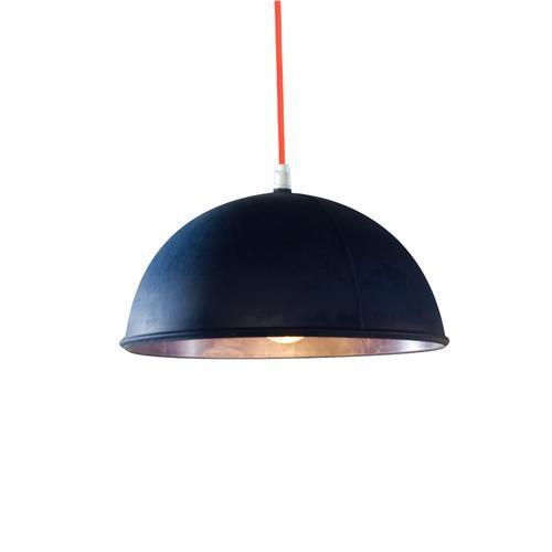 Lampada da Soffitto, Applique Pop 1 colore blu scuro dimensioni Altezza 12 cm Diametro 22 cm, raccomandato il LED da 6W, realizzata in laprene con cavi in diversi colori