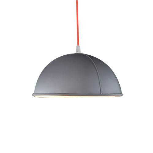 Lampada da Soffitto, Applique Pop 1 colore griggio dimensioni Altezza 12 cm Diametro 22 cm, raccomandato il LED da 6W, realizzata in laprene con cavi in diversi colori