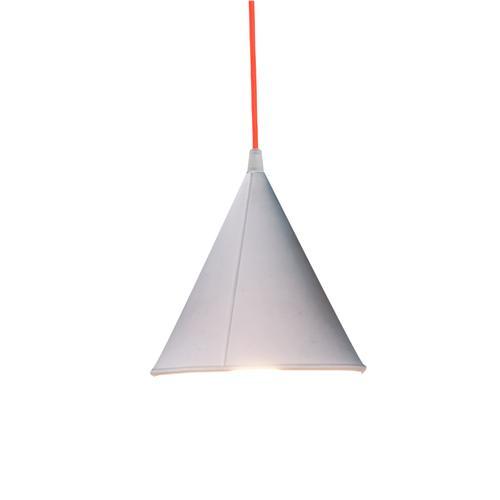 Lampada da Soffitto, Applique Pop 2 colore bianco dimensioni Altezza 17 cm Diametro 17,5 cm, raccomandato il LED da 6W, realizzata in laprene con cavi in diversi colori