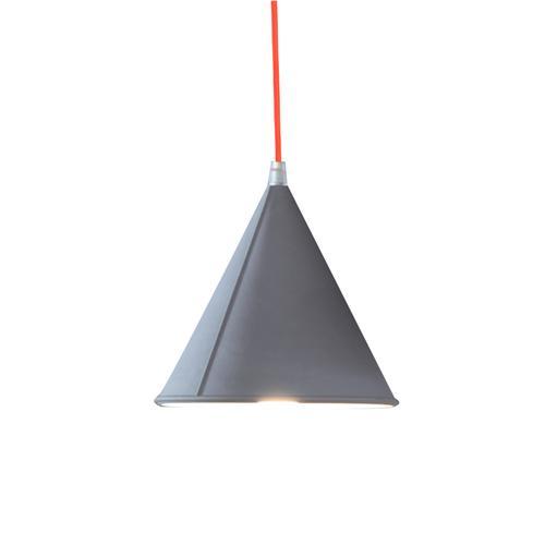 Lampada da Soffitto, Applique Pop 2 colore griggio dimensioni Altezza 17 cm Diametro 17,5 cm, raccomandato il LED da 6W, realizzata in laprene con cavi in diversi colori