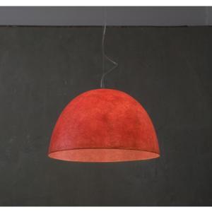Lampada a Sospensione H20 in nebulite Ø 46xh27,5 Rosso Trasparente