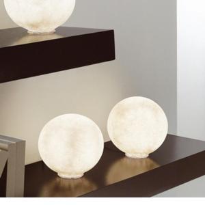 Lampada da Tavolo T.moon 1 Media in nebulite Ø 25 Nebulite Bianco