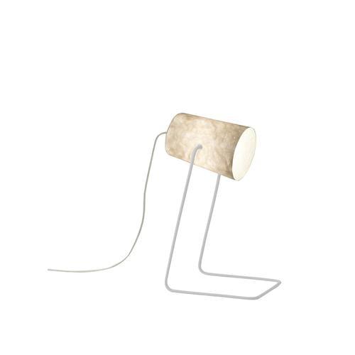 Lampada da Tavolo Paint T nebula colore bianco Altezza 17,5 cm Diametro 12 cm, realizzata in acciaio, nebulite