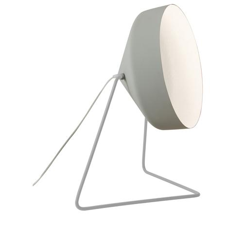 Lampada da terra Cyrcus F cemento colore grigio Altezza 22,5 cm Diametro 40 cm, realizzata in acciaio, nebulite, vernice effeto cemento