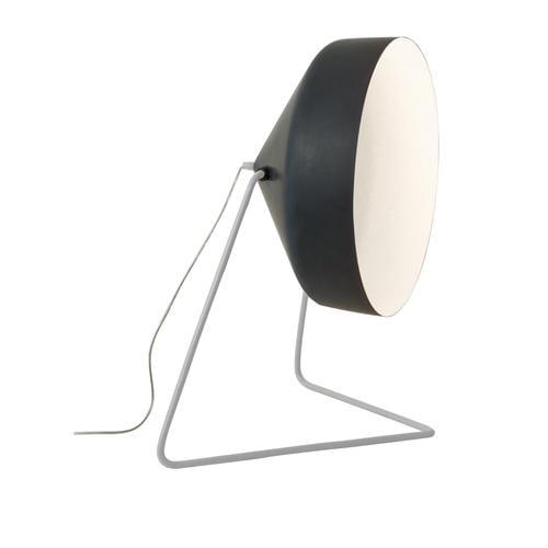 Lampada da terra Cyrcus F lavagna colore nero Altezza 22,5 cm Diametro 40 cm, realizzata in acciaio, nebulite, resina effetto lavagna