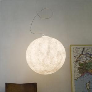 Lampada a Sospensione LUNA 1 Ø 35 cm piccola in nebulite Nebulite Bianco