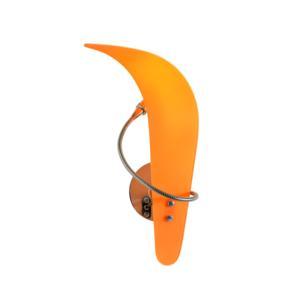 Lampada da Parete in alluminio SAVANA 38x20xh16 cm Vetro Arancio