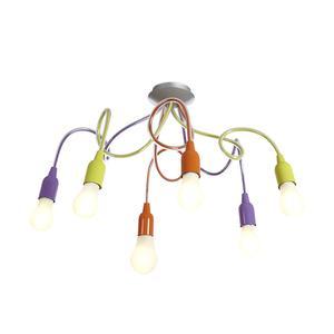 Lampada da soffitto verniciato a polveri orientabile Sei luci 80x50 cm Multicolor