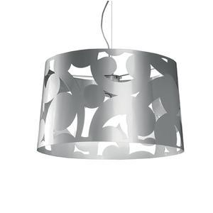 Lampada a sospensione in metallo verniciato a polveri epossidiche KIRK 50xh160-50 Alluminio