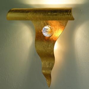 Applique da Muro HOLA 30x9xh27 cm in metallo sagomato al laser Oro