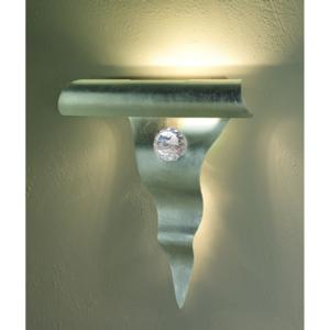 Applique da Muro HOLA 30x9xh27 cm in metallo sagomato al laser Argento