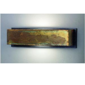 Applique da Muro LOLA Rettangolare 35x10xh9 cm in Ottone ossidato