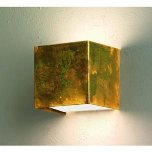 Applique da parete LOLA 9x9X9h Cm In Ottone Ossidato senza base