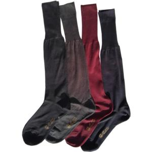 Calzini da Uomo lungo filo di scozia a Tinta unita cotone 100 % BLU due paia