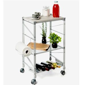 Carrello da Cucina portavivande 32x50xh78 cm verniciato grigio Metallizzato